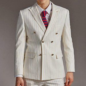 Other - Men's Suit 2 Pieces Stripe Double Breasted Tuxedos